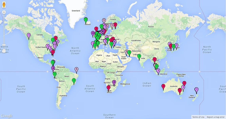 Global mapping | agileBase on global accounting, global infrastructure, global manufacturing, global development, global advertising, global statistics, global engineering, global security,