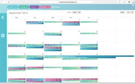 calendar colourful