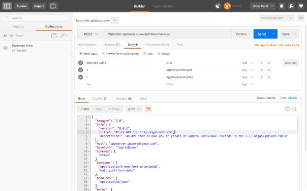 Generate API descriptions | agileBase administration